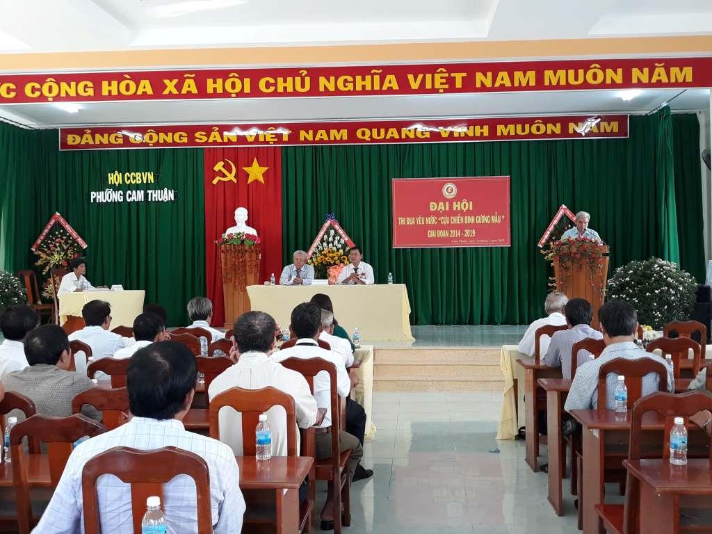 Hội Cựu chiến binh phường Cam Thuận tổ chức Đại hội thi đua